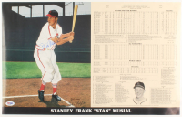 Stan Musial Signed LE St. Louis Cardinals 13.25x20.5 Career Highlight Stat Lithograph (PSA COA) at PristineAuction.com
