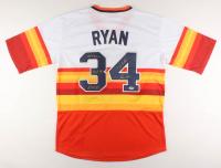 "Nolan Ryan Signed Houston Astros Jersey Inscribed ""324 Wins"", ""H.O.F. '99"" , ""5714 K's"", & ""7 No-Hitters"" (PSA COA)"