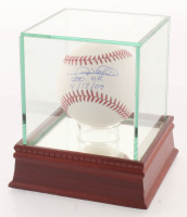 "Gary Sheffield Signed OML Baseball Inscribed ""500 HR 4/17/09"" with Display Case (PSA COA)"