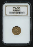 1877-S $2.50 Liberty Head Quarter Eagle Gold Coin (NGC VF 45) at PristineAuction.com