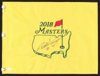 """Bernhard Langer Signed 2018 Masters Golf Pin Flag Inscribed """"'85"""" & """"'93"""" (JSA COA)"""
