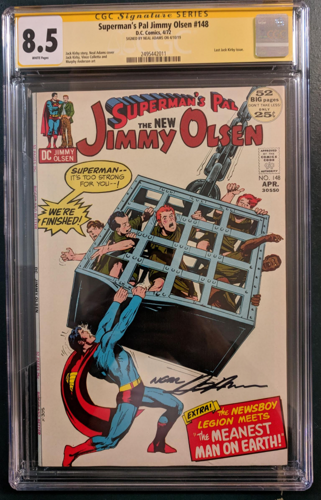 """Neal Adams Signed 1972 """"Superman's Pal, Jimmy Olsen"""" Issue #148 DC Comic Book (CGC Encapsulated - 8.5) at PristineAuction.com"""