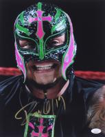 Rey Mysterio Signed WWE 11x14 Photo (JSA COA)