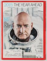 Scott Kelly Signed 2014 Time Magazine (JSA COA)
