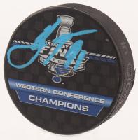 "Vladimir Tarasenko Signed 2019 Stanley Cup ""Western Conference Champions"" Logo Hockey Puck (Beckett Hologram)"