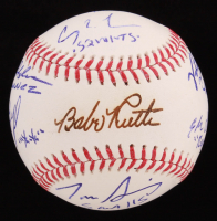 """The Sandlot"" OML Baseball Cast-Signed By (7) With Tom Guiry, Chauncey Leopardi, Shane Obedzinski, Marty York with Multiple Inscriptions (Beckett COA) at PristineAuction.com"