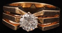 14Kt Yellow Gold Diamond Solitaire Ring at PristineAuction.com