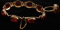 14Kt Yellow Gold Amber Ring & Bracelet Set at PristineAuction.com