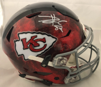 Travis Kelce Signed Kansas City Chiefs Full-Size Authentic On-Field Hydro Dipped SpeedFlex Helmet (Beckett COA)