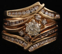 14Kt Yellow Gold Diamond Three Piece Wedding Set at PristineAuction.com