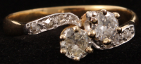 18Kt Yellow Gold Diamond Ring at PristineAuction.com