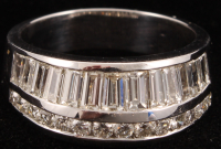 18Kt White Gold Diamond Custom Ring at PristineAuction.com