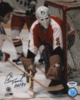 "Bernie Parent Signed Philadelphia Flyers 8x10 Photo Inscribed ""HOF 84"" (PSA COA) at PristineAuction.com"
