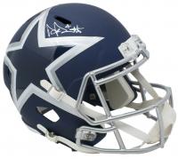 Dak Prescott Signed Dallas Cowboys Full-Size Matte Blue Speed Helmet (Beckett COA & Prescott Hologram)