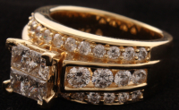 14Kt Yellow Gold Diamond Bridal Ring at PristineAuction.com
