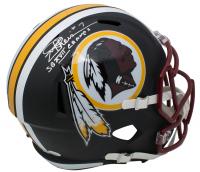 "Joe Theismann Signed Washington Redskins Matte Black Speed Full-Size Helmet Inscribed ""SB XVII Champs"" (JSA COA)"