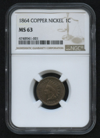 1864 1¢ Indian Head Penny - Copper Nickel (NGC MS 63) at PristineAuction.com
