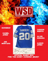 WSD Official Barry Box Football Jersey Mystery Box (Find the Barry Sanders Jersey!) at PristineAuction.com