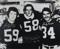 "Jack Ham, Jack Lambert & Andy Russell Signed Steelers 16x20 Photo Inscribed ""HOF '90"" & ""HOF 88"" (JSA COA) at PristineAuction.com"
