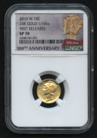 2016-W Gold Mercury Dime 1/10 Oz Gold Coin - Early Releases (NGC SP 70) (100th Anniversary Label) at PristineAuction.com