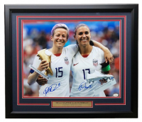 Alex Morgan & Megan Rapinoe Signed Team USA 22x27 Custom Framed Photo Display (JSA COA)