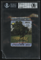 Zach Johnson Signed 2007 Masters Golf Badge (BGS Encapsulated) at PristineAuction.com