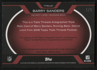 2008 Topps Triple Threads Autographed Relic Printing Plates Yellow #TTRA87 Barry Sanders #1/1 at PristineAuction.com