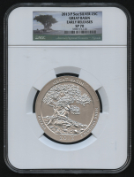 2013-P 5oz Silver Jumbo 25¢ - Great Basin - Nevada - America's National Treasures - Early Releases - Jumbo Quarter (NGC SP 70) at PristineAuction.com