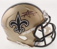 Alvin Kamara Signed New Orleans Saints Speed Mini Helmet (Beckett COA) at PristineAuction.com