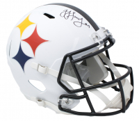 JuJu Smith-Schuster Signed Pittsburgh Steelers AMP Alternate Full-Size Speed Helmet (JSA COA) at PristineAuction.com