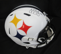 JuJu Smith-Schuster Signed Pittsburgh Steelers Full-Size AMP Alternate Speed Helmet (JSA COA) at PristineAuction.com