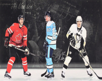 Sidney Crosby Signed Pittsburgh Penguins 16x20 Canvas (JSA COA) at PristineAuction.com