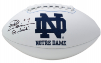 "Joe Theismann Signed Notre Dame Fighting Irish Logo Football Inscribed ""Go Irish!"" (JSA COA) at PristineAuction.com"