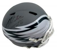 Miles Sanders Signed Philadelphia Eagles AMP Alternative Full Size Helmet (JSA COA)