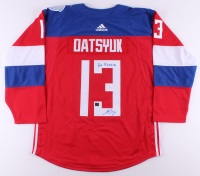 "Pavel Datsyuk Signed Russia Jersey Inscribed ""Go Russia"" (JSA COA) at PristineAuction.com"
