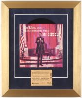 "Walt Disney's ""Great Moments with Mr. Lincoln"" 13x15.5 Custom Framed Vinyl Record Album Display with Ticket at PristineAuction.com"