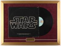 "Vintage 1977 ""Star Wars"" 18x24 Custom Framed Vinyl Soundtrack Record Album Display at PristineAuction.com"
