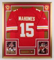 Patrick Mahomes Kansas City Chiefs 32x36 Custom Framed Jersey Display with Kansas City Chiefs Pin at PristineAuction.com