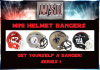 WSD Football Mini Helmet Bangers Mystery Box - Series 1 (Get Yourself a Banger!) at PristineAuction.com