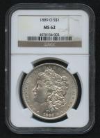 1889-0 $1 Morgan Silver Dollar (NGC MS 62) at PristineAuction.com