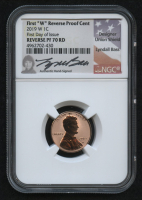 2019-W 1¢ Lincoln Cent - First Day of Issue - Union Shield - Signed by Designer of the Union Shield Lyndall Bass (NGC PF 70 RD) at PristineAuction.com