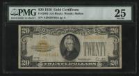 1928 $20 Twenty Dollars U.S. Gold Certificate Bank Note (PMG 25) at PristineAuction.com