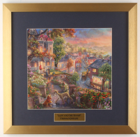 "Thomas Kinkade Walt Disney's ""Lady and the Tramp"" 17.5x18 Custom Framed Print Display at PristineAuction.com"