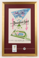 Disneyland Hotel 17x26 Custom Framed Print Display with Vintage Key Card & Pin at PristineAuction.com