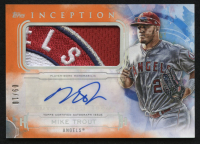 2019 Topps Inception Patch Autographs Orange #IAPMT Mike Trout #9/10 at PristineAuction.com