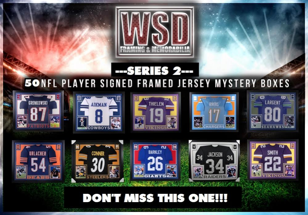 WSD NFL Framed Jersey Mystery Box #/50 at PristineAuction.com