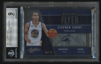 2012-13 Absolute Frequent Flyer Autographs #18 Stephen Curry #66/99 (BGS 9) at PristineAuction.com