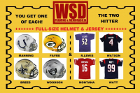 WSD NFL Full-Size Helmet & Jersey Mystery Box - The Two Hitter! #/100 at PristineAuction.com