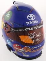 Kyle Busch Signed 2018 NASCAR M&M Caramel Full-Size Racing Helmet (Beckett COA) at PristineAuction.com