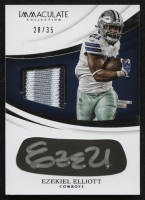 2018 Immaculate Collection Eye Black Jersey Autographs #10 Ezekiel Elliott #28/35 at PristineAuction.com